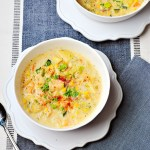 Summer Shrimp Corn & Zucchini Chowder