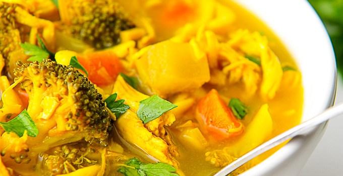 Turmeric Chicken Noodle Soup