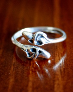 Ballet Shoe Ring- Pointe ring