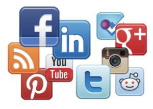 social media icon group for referrals