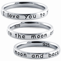 Moon and back ring- Stacking ring