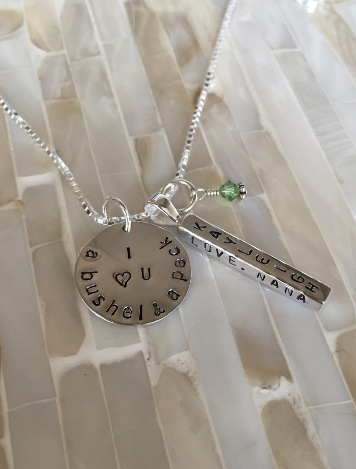 Personalized BUSHEL AND A PECK NECKLACE WITH NAMES