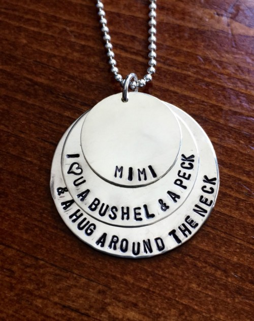 Bushel Peck Grandmothers name Necklace- Layered Necklace- Mother's Day Gift