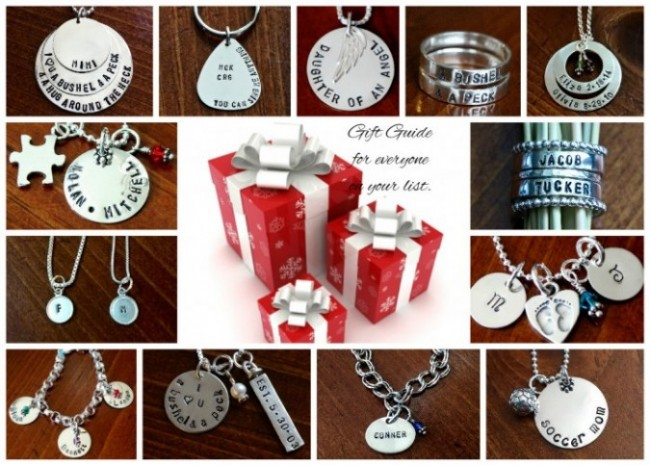 hand stamped jewelry sale
