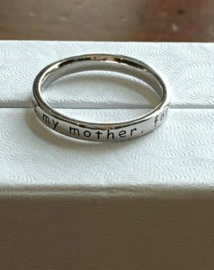 Always my mother forever my friend ring