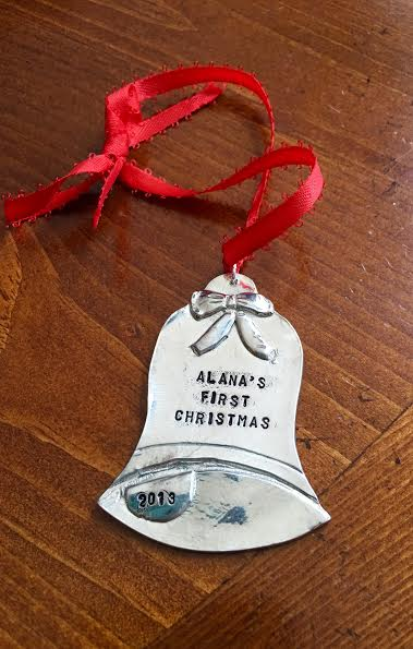 Bell Personalized Ornament- First Christmas