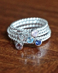 stackable Birthstone Rings