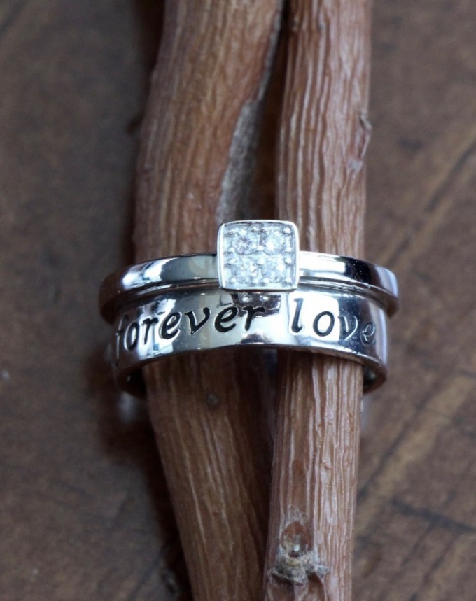Forever Love Ring- Promise Ring Set