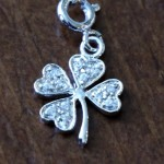 Four Leaf Clover Charm- Irish Pendant- Good Luck Pendant