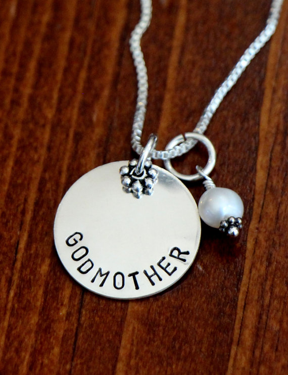 Godmother necklace with birthstone kandsimpressions previous next aloadofball Gallery