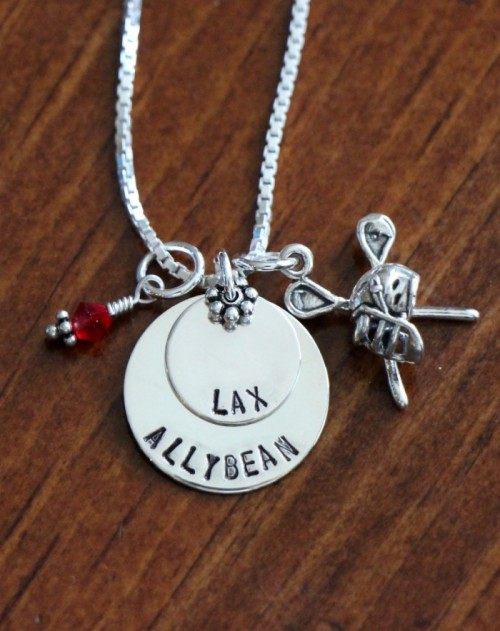 Lacrosse LAX Player Name Necklace