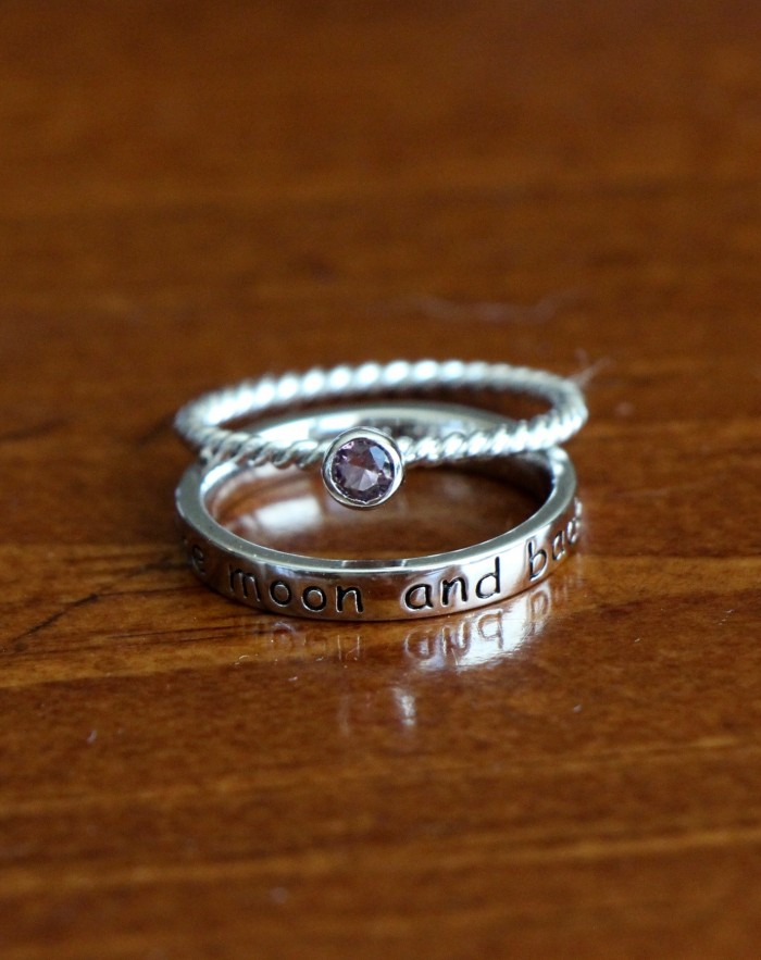 I Love You To The Moon And Back Ring Kandsimpressions