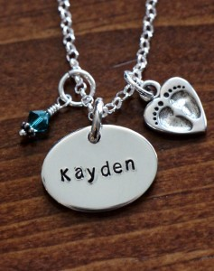 Mothers baby name necklace- push present