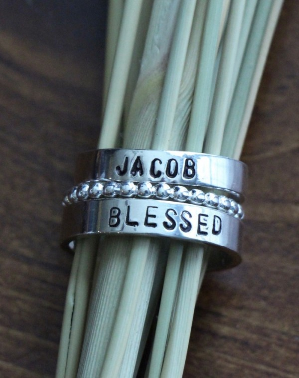 two Name Rings- Three stacking rings