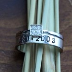 promise ring Anniversary Wedding custom names date