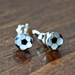 Soccer Ball Earrings- Black and White studs