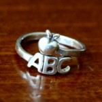 Teacher ring- gift for a teacher- Abc ring