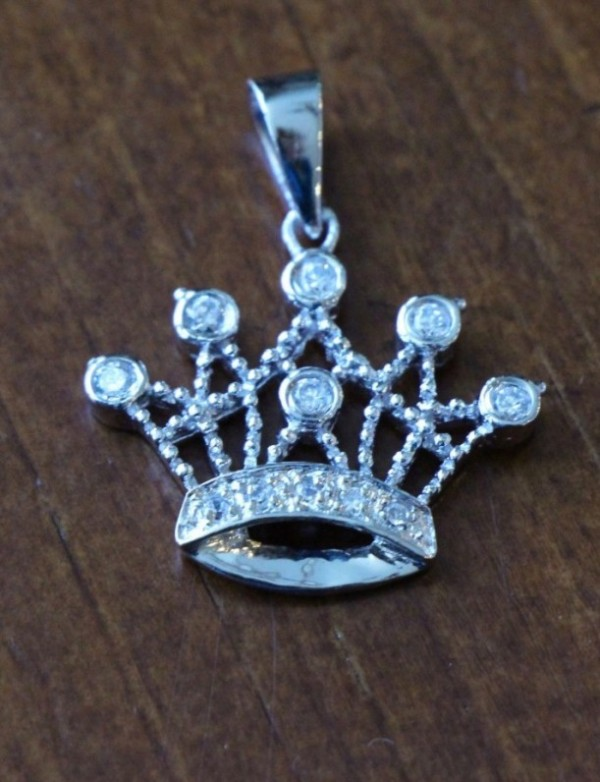 Tiara Charm Sterling Silver With Czs Kandsimpressions