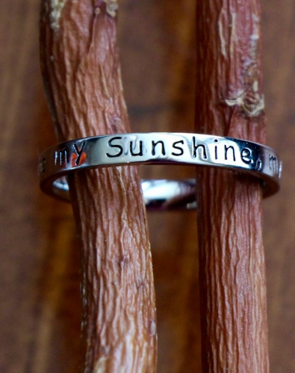 You are my Sunshine Ring- Sterling Silver