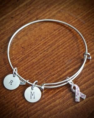 Cancer Awareness Personalized Bracelet Kandsimpressions