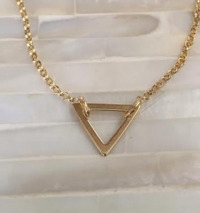 Balance Triangle Necklace- Gold Dainty