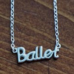 Ballet dancer necklace ballerina gift