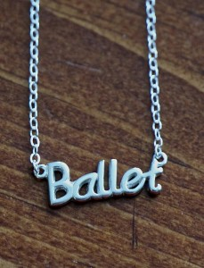 Ballet Nameplate necklace