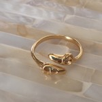 gold ballet ring ballerina dance gift