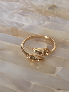 Ballet Shoe Ring- Gold