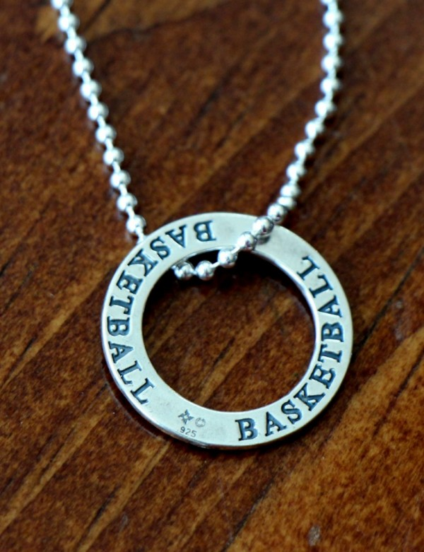 Basketball Necklace player team gift Jewelry