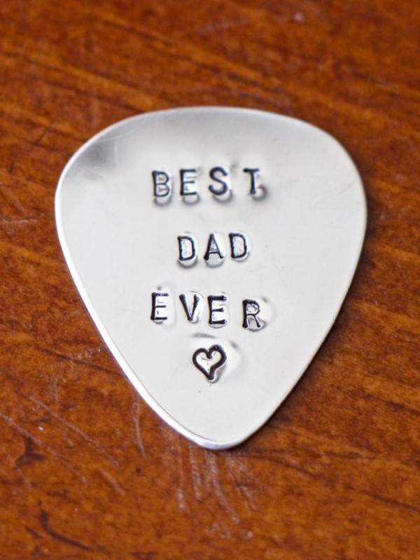 Personalized Guitar Pick Gift for Dad