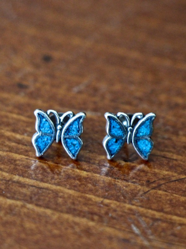 Sterling Silver Butterfly Earrings Kandsimpressions