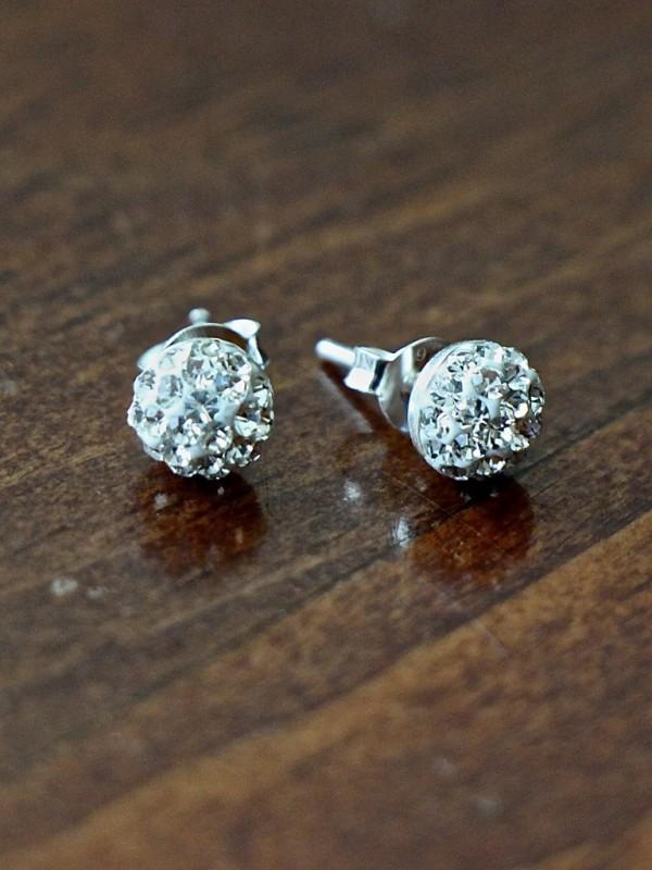 Swarovski Crystal Pave Stud Earrings Kandsimpressions