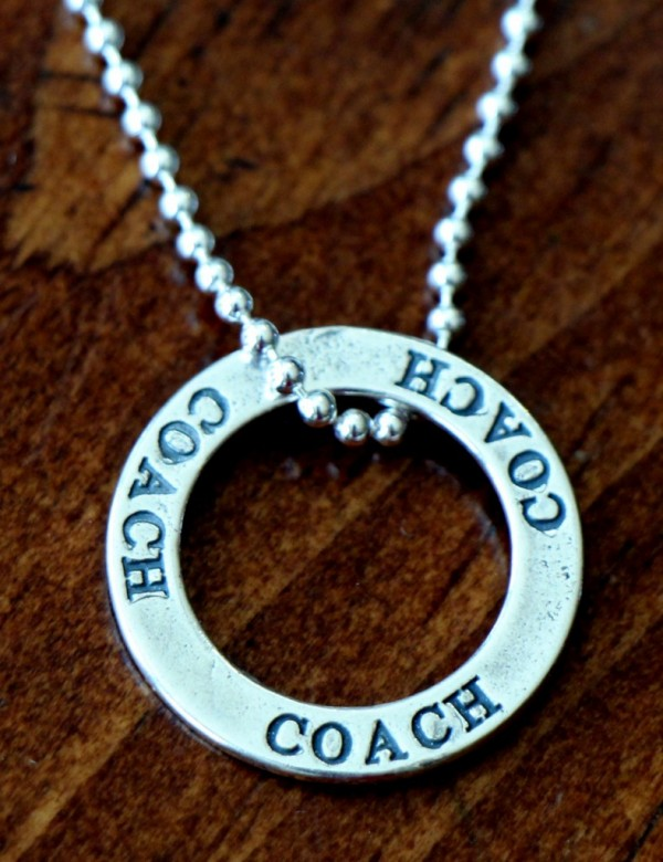 Coach Necklace Gift Sterling Silver Kandsimpressions