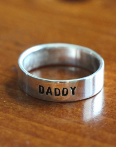 fathers ring Dad kids name ring- Daddy