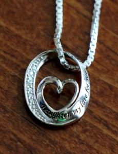 Daughter Love Necklace- Heart Pendant