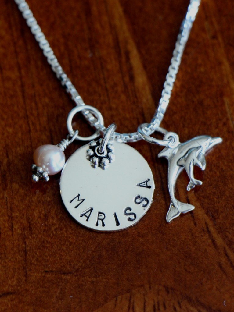 little girl Dolphin Necklace- Beach Jewelry