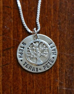 Family Name Necklace Tree of Life