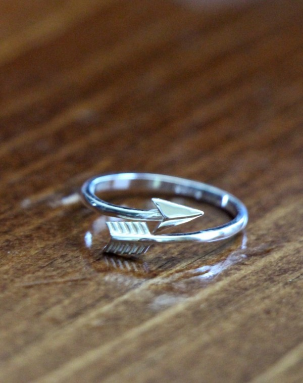 Sterling Silver Arrow Ring Kandsimpressions