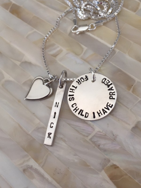 For this Child I have Prayed Name Necklace