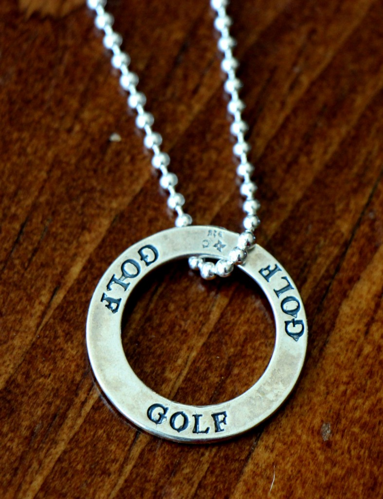 Golf Necklace Sterling Silver Kandsimpressions