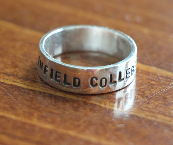 class ring Graduation gift hand stamped stackable