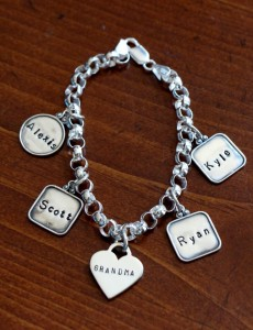 Grandmother Name Bracelet- personalized family charm