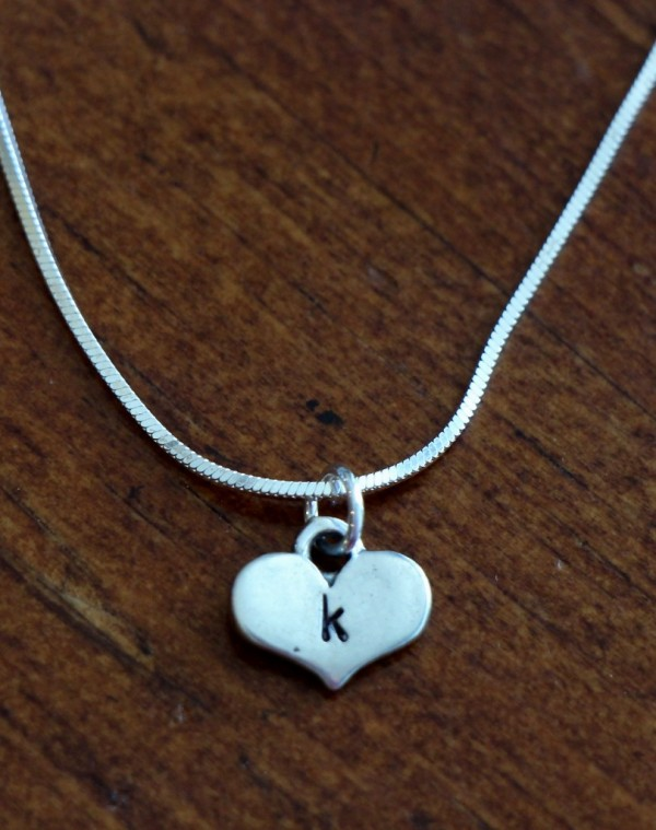 Initial Heart Necklace petite couples