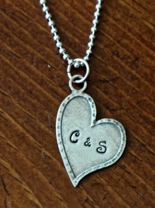 Personalized Heart Necklace initials