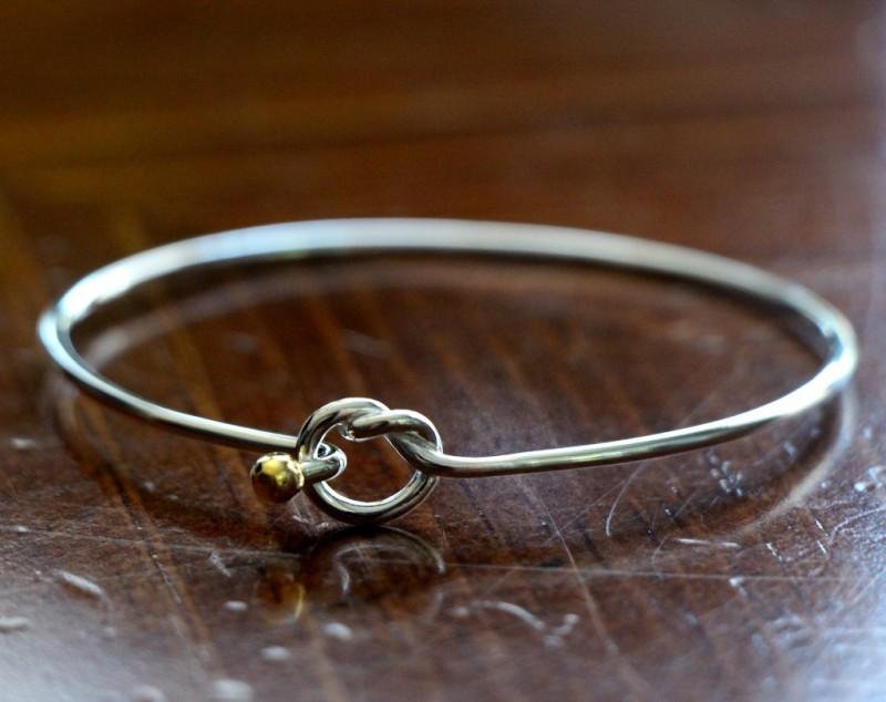 Love Knot Bracelet Silver Gold Kandsimpressions