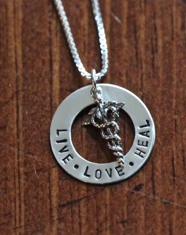 nurses Live Love Heal Necklace Personalized