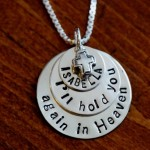 personalized child loss Memorial Necklace Ill hold you again in Heaven