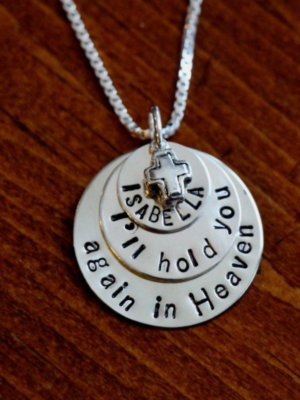 Child Loss Personalized Memorial Necklace Kandsimpressions