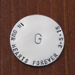 Personalized Memorial Pocket Token- In our Hearts Forever